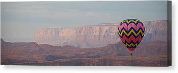 Vivid Balloon Panorama Canvas Print by Kate Sumners