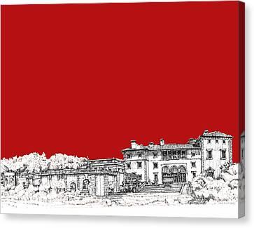 Vizcaya In Red Canvas Print