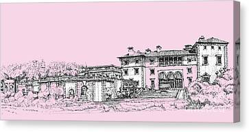 Vizcaya Museum And Gardens Baby Pink Canvas Print