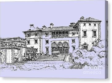 Vizcaya Museum And Gardens Powder Blue Canvas Print
