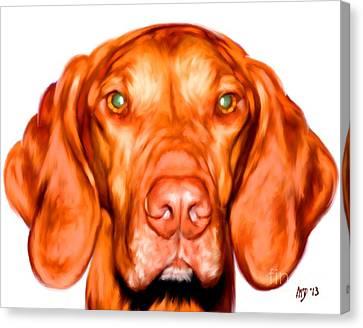 Vizsla Dog Art Portrait Canvas Print by Iain McDonald