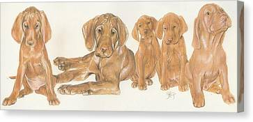 Vizsla Puppies Canvas Print