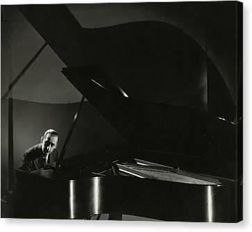 Vladimir Horowitz At A Grand Piano Canvas Print by Edward Steichen