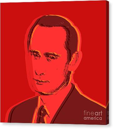 Vladimir Putin Canvas Print by Jean luc Comperat