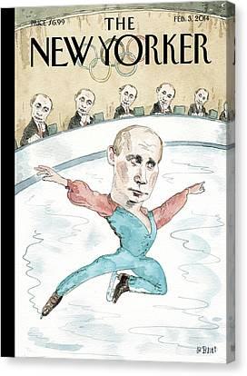 Vladimir Putin Judges His Figure Skating Canvas Print