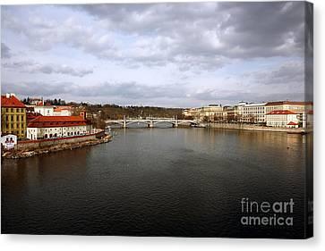 Vltava River View Canvas Print by John Rizzuto