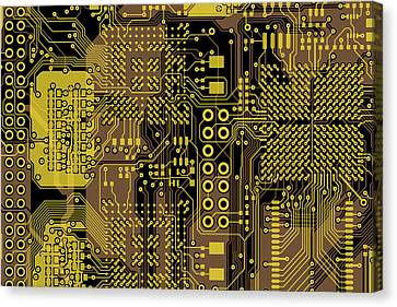 Vo96 Circuit 5 Canvas Print by Paul Vo