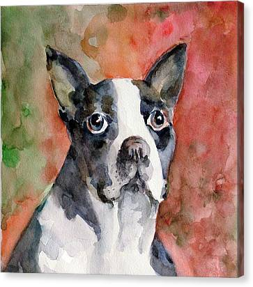 Canvas Print featuring the painting Vodka - French Bulldog by Faruk Koksal