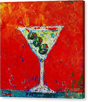 Vodka Martini Shaken Not Stirred - Martini Lovers - Modern Art Canvas Print