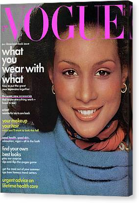 Vogue Cover Featuring Beverly Johnson Canvas Print by Francesco Scavullo
