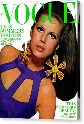 Vogue Cover Featuring Birgitta Af Klercker Canvas Print by Bert Stern