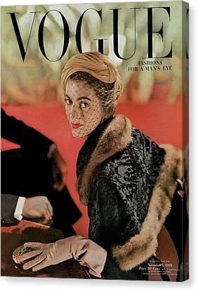 Vogue Cover Featuring Carmen Dell'orefice Canvas Print