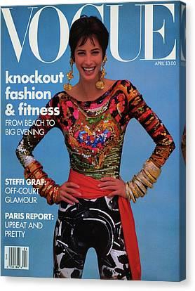 Vogue Cover Featuring Christy Turlington Canvas Print