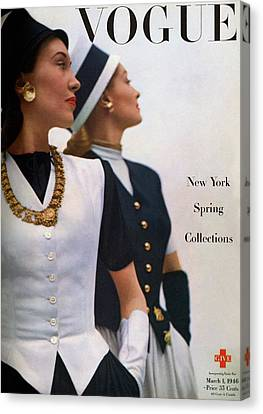 Vogue Cover Featuring Jean Sinclair Canvas Print by John Rawlings