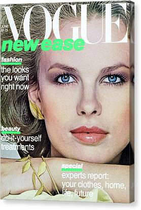 Vogue Cover Featuring Lisa Taylor Canvas Print