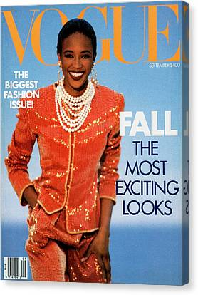 Vogue Cover Featuring Naomi Campbell Canvas Print by Patrick Demarchelier