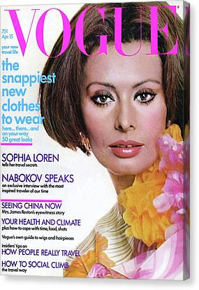 Vogue Cover Featuring Sophia Loren Canvas Print by Henry Clarke