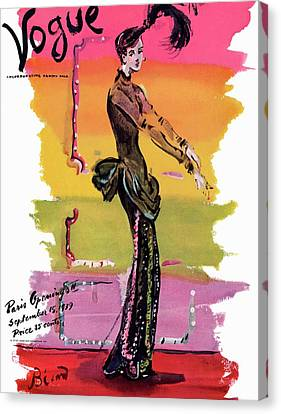 Earrings Canvas Print - Vogue Cover Illustration by Christian Berard