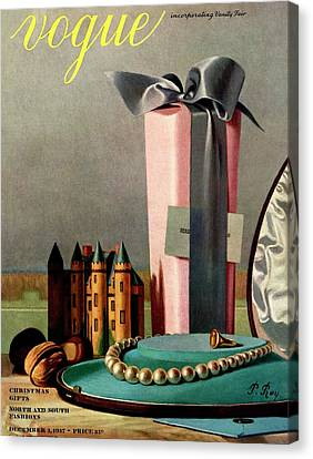 Walnut Canvas Print - Vogue Cover Illustration Of Holiday Gifts by Pierre Roy