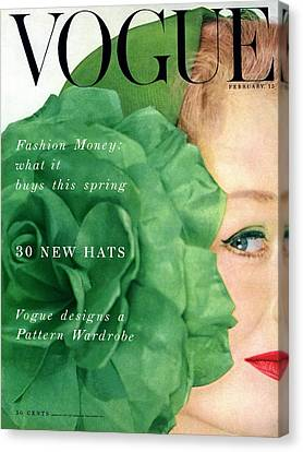 Vogue Cover Of Nina De Voe Canvas Print