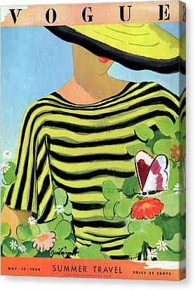 Vogue Magazine Cover Featuring A Woman Looking Canvas Print