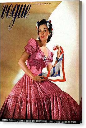 Vogue Magazine Cover Featuring Model Kay Herman Canvas Print by Horst P. Horst