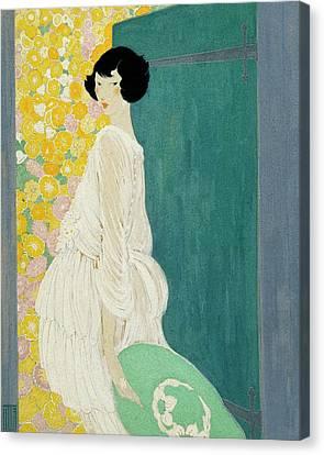 Vogue Magazine Illustration Of A Woman Standing Canvas Print