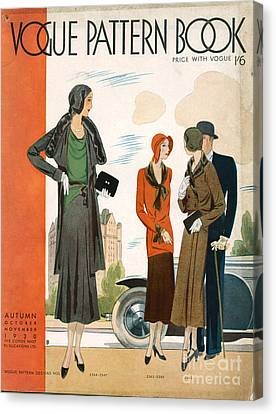 Vogue Pattern Book Cover 1930 1930s Uk Canvas Print by The Advertising Archives