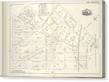 St George Canvas Print - Vol. 2. Plate, J. Map Bound By Bogart St., Thames St by Litz Collection