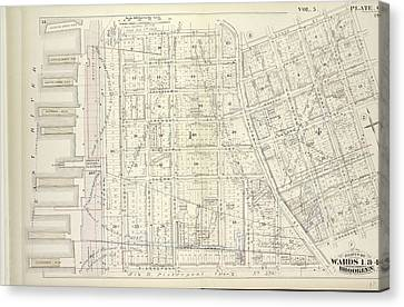 Vol. 5. Plate, C. Map Bound By Poplar St., Sands St., Jay Canvas Print