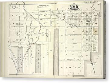 Vol. 5. Plate, S. Map Bound By Lorraine St., Hamilton Ave Canvas Print