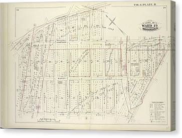 Vol. 6. Plate, R. Map Bound By Broadway, Middleton St Canvas Print