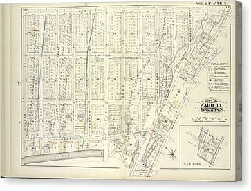 Vol. 6. Plate, S. Map Bound By Lee Ave., Flushing Ave Canvas Print by Litz Collection