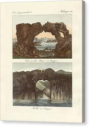 Volcanic Arcs And Caves Canvas Print by Splendid Art Prints