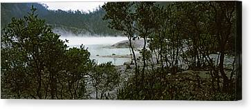 Volcanic Lake In A Forest, Kawah Putih Canvas Print by Panoramic Images