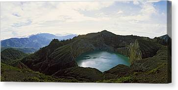Volcanic Lake On A Mountain, Mt Canvas Print
