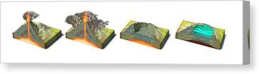 Volcano Collapse Sequence Canvas Print