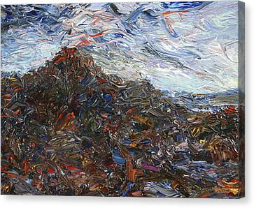 Volcano Canvas Print by James W Johnson