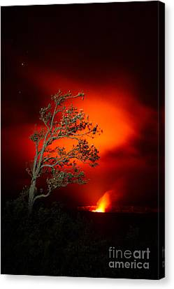 Volcano National Park Glow All Profits Go To Hospice Of The Calumet Area Canvas Print