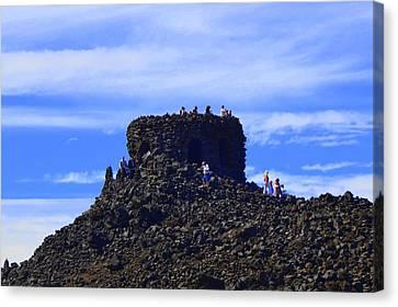 Volcano Oregon Canvas Print by Jeri lyn Chevalier