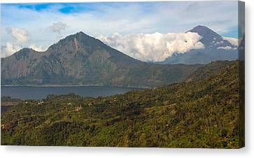 Canvas Print featuring the photograph Volcanoes - Bali by Matthew Onheiber