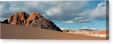 Valley Of The Moon Canvas Print - Volcanoes Licancabur And Juriques Seen by Panoramic Images