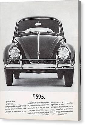 Volkswagen Beetle Canvas Print by Georgia Fowler