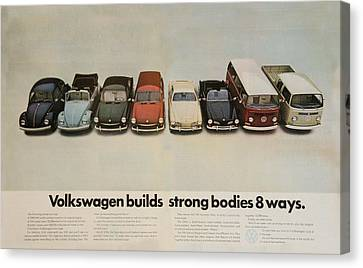 Old Trucks Canvas Print - Volkswagen Body Facts by Georgia Fowler