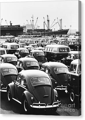 Volkswagen Shipment Canvas Print by M E Warren