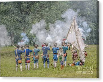 Volley Fire Grand Encampment  Canvas Print by Randy Steele