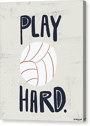 Volleyball Canvas Print by Katie Doucette