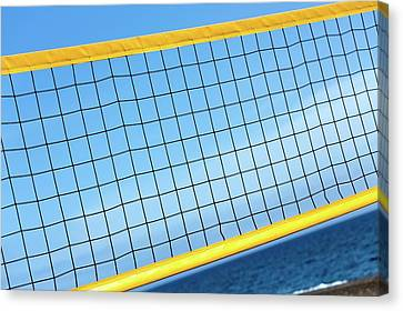 Volleyball Net Canvas Print by Wladimir Bulgar