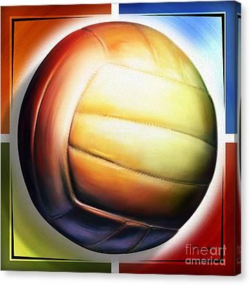 Volleyball Canvas Print by Shevon Johnson