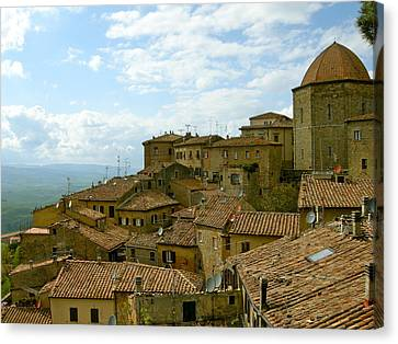 Canvas Print featuring the photograph Volterra by Victoria Lakes